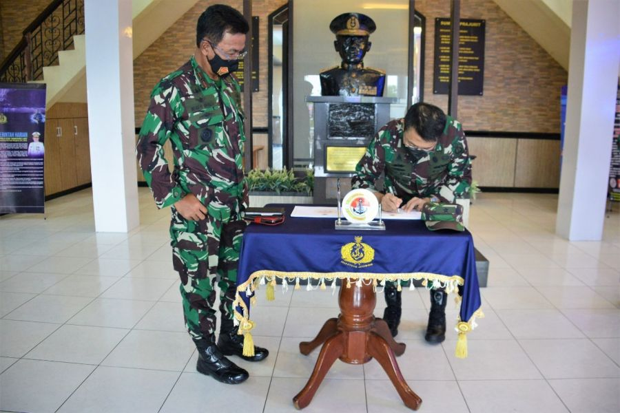 Danlantamal IV Tanjungpinang Terima Kunker Kadiskomlekal
