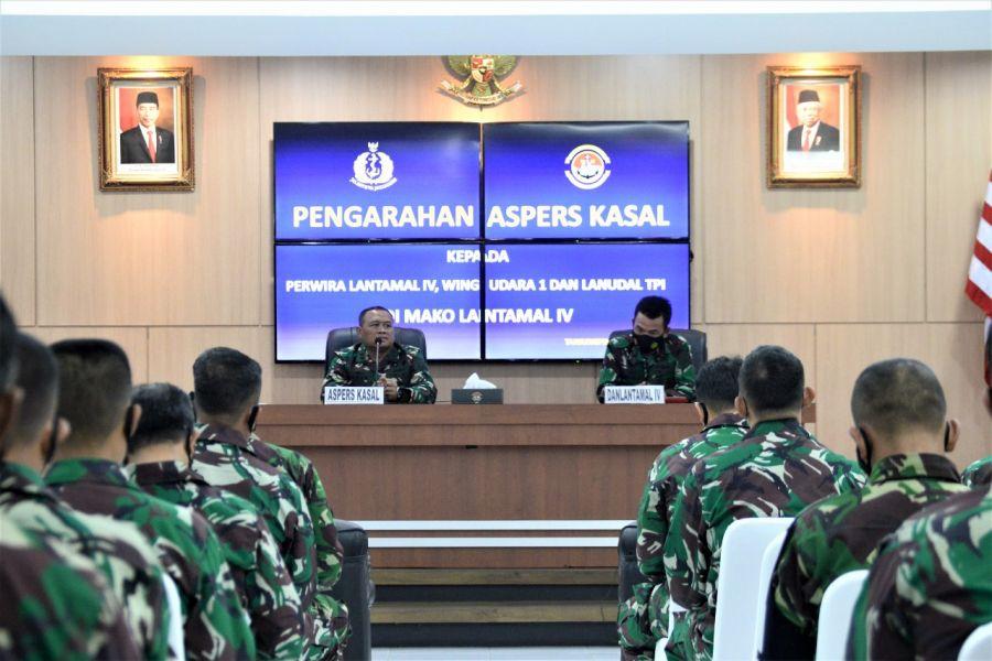 Perwira TNI AL Tanjungpinang Dapatkan Pengarahan Dari Aspers Kasal