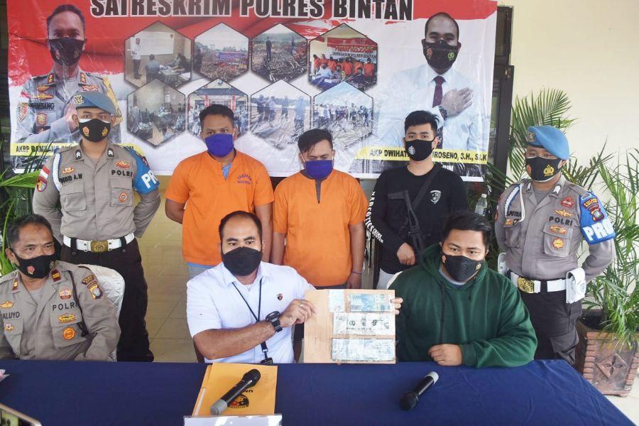 Polres Bintan Ringkus Pelaku Penggelapan Sepeda Motor