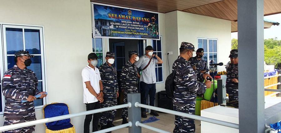 Pos Pengamat Pulau Panjang Batam Di Resmikan Danlanal Batam