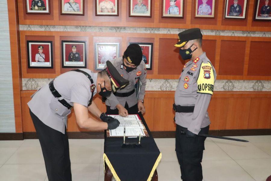 Rotasi Jabatan, Kapolres Karimun Pimpin Sertijab Wakapolres