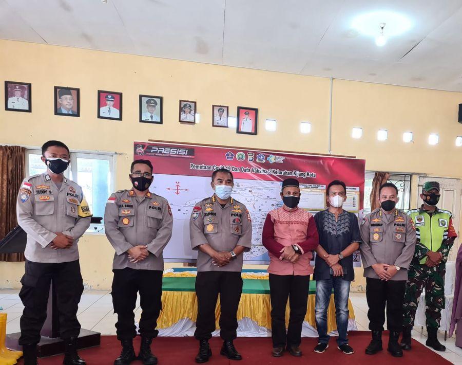 Tim Korbinmas Baharkam Polri Kunjungi Posko PPKM Kelurahan Kijang Kota