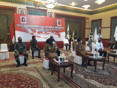 Danlantamal IV Hadiri Vicon Presiden RI Kepada Kepala Daerah Seluruh Indonesia Terkait Covid 19