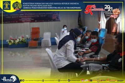 Sambut HBP ke-57, Lapas Narkotika Klas IIA Tanjungpinang Gelar Aksi Donor Darah Bersama PMI Bintan